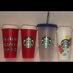 Starbucks Confetti Color Changing Cup Lot